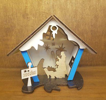 presépio artesanato casinha madeira belém
