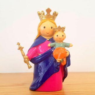 nossa senhora auxiliadora anjo santo religião religion cute fofo comunhão batizado baptizado figura religiosa anjinho guarda menina menino baptismo