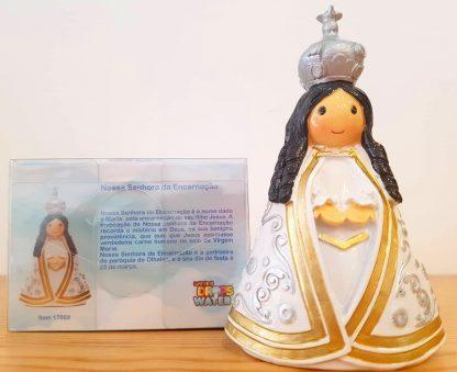 nossa senhora encarnação anjo santo religião religion cute fofo comunhão batizado baptizado figura religiosa anjinho guarda menina menino baptismo