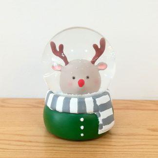 globo de neve snowglobe rena rodolfo pai natal natal