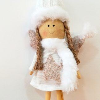 presépio original colecção sagrada família raposa neve urso polar pai natal pinguim gato boneco de neve rã pendente estrela