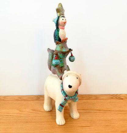 presépio original colecção sagrada família raposa neve urso polar