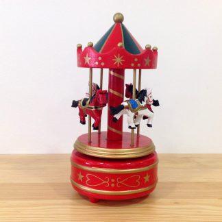 caixa musica magia realejo corda decoração carrossel