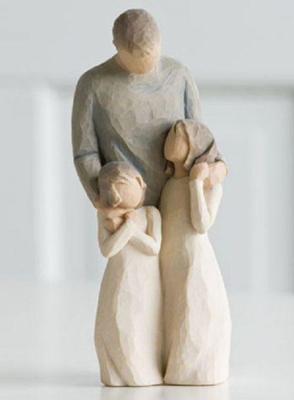 susan lordi figura estátua família anjo peça decoraçao casa significado amizade amor felicidade willow tree desejo aniversário presente