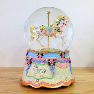 caixa musica magia realejo corda decoração globo de neve snowglobe