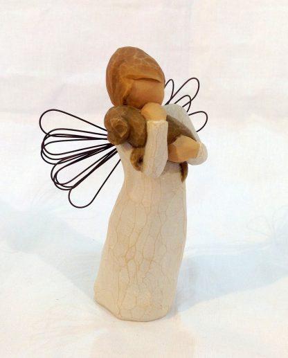 susan lordi figura estátua família anjo peça decoraçao casa significado amizade amor felicidade willow tree desejo aniversário presente cão amizade
