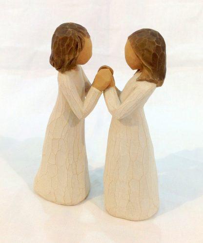 susan lordi figura estátua família anjo peça decoraçao casa significado amizade amor felicidade willow tree desejo aniversário presente irmãs do coração amigas