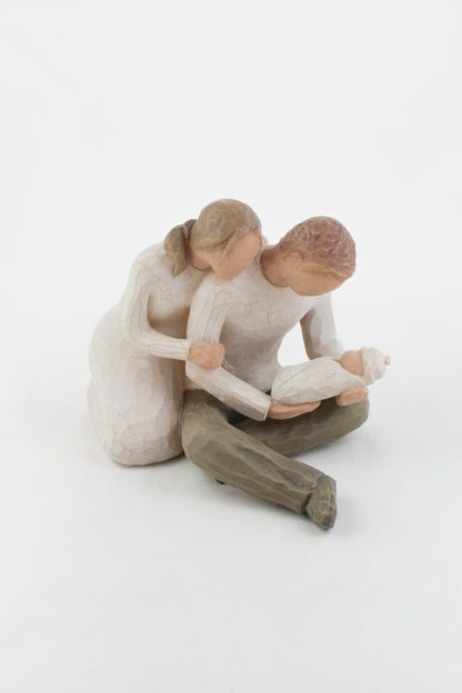 susan lordi figura estátua família anjo peça decoraçao casa significado amizade amor felicidade willow tree desejo aniversário presente nova vida bebé