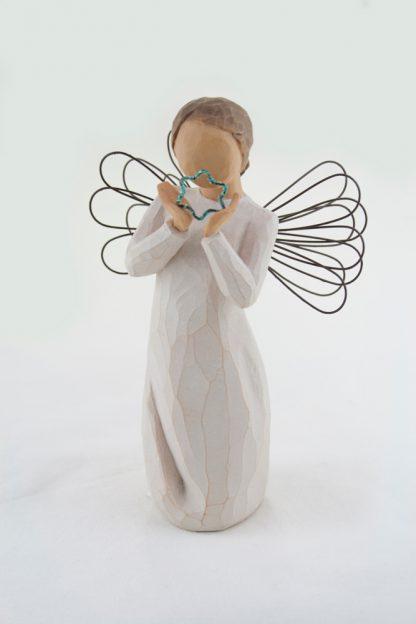 susan lordi figura estátua família anjo peça decoraçao casa significado amizade amor felicidade willow tree desejo aniversário presente estrela