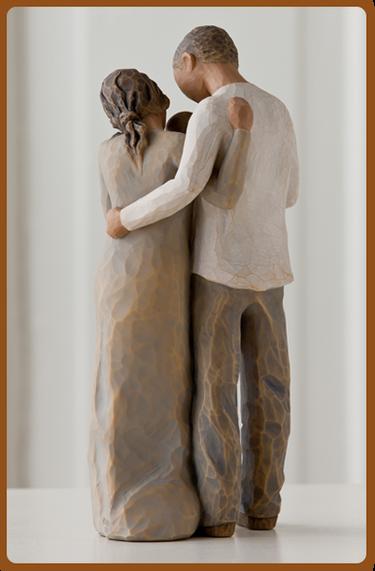 susan lordi figura estátua família anjo peça decoraçao casa significado amizade amor felicidade willow tree desejo aniversário presente agora somos três gravidez