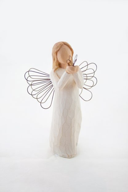 susan lordi figura estátua família anjo peça decoraçao casa significado amizade amor felicidade willow tree desejo aniversário presente borboleta