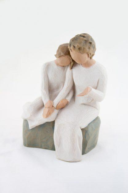 susan lordi figura estátua família anjo peça decoraçao casa significado amizade amor felicidade willow tree desejo aniversário presente avó neta