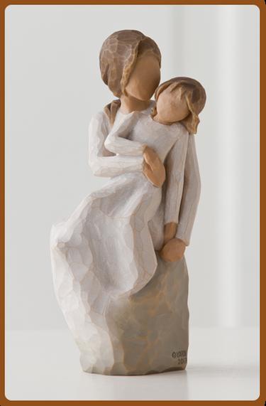 susan lordi figura estátua família anjo peça decoraçao casa significado amizade amor felicidade willow tree desejo aniversário presente mãe maternidade