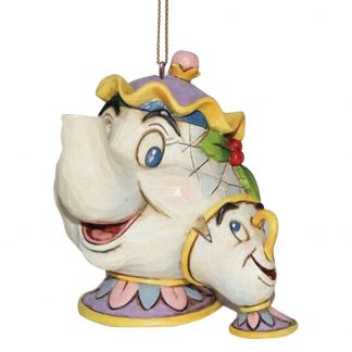 jim shore heartwood disney tradition mrs. potts bela e o monstro
