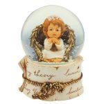 caixa de música globo de neve ave maria anjo
