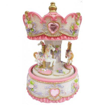 14231 carrossel caixa de música princesa