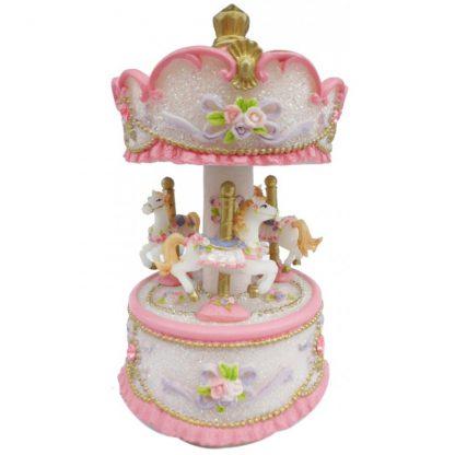14230 carrossel caixa de música princesa