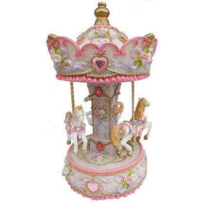 14233 carrossel caixa de música princesa