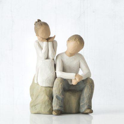 susan lordi figura estátua família anjo peça decoraçao casa significado amizade amor felicidade willow tree desejo aniversário presente irmão irmã