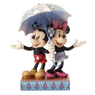 disney traditions jim shore mickey minnie guarda-chuva amor namorados
