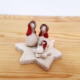 artesanato rita macedo cerâmica mocho natal gato presépio