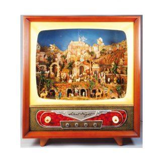 caixa de música televisao gigante presépio belém jerusalém natal
