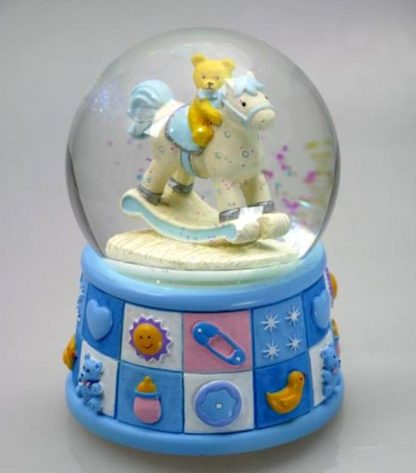 14295 snowglobe globo de neve urso bebé caixa de música