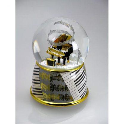 11001 globe snowglobe piano globo de neve caixa de música