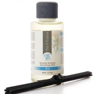 óleo difusor aromatizador aroma casa boles d'olor recarga mikado black edition iris