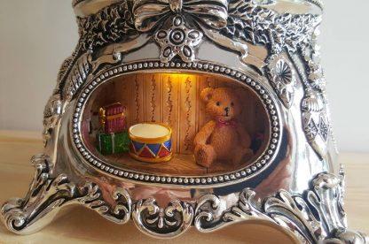 caixa musica natal christmas magia realejo globo peça elétrico corda decoração