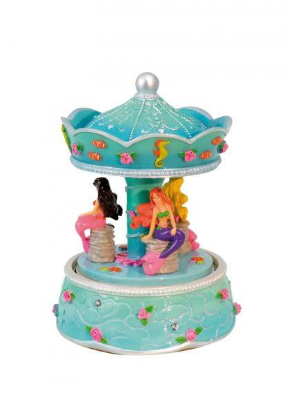 14313 carrossel sereia mermaid caixa de música