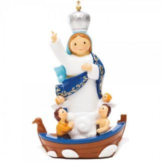 nossa senhora navegantes anjo santo religião religion cute fofo comunhão batizado baptizado figura religiosa anjinho guarda menina menino baptismo