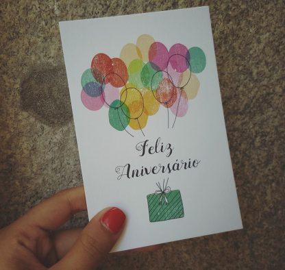 postal aniversário parabéns