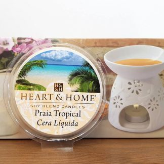 heart and home copo para vela soja cera líquida