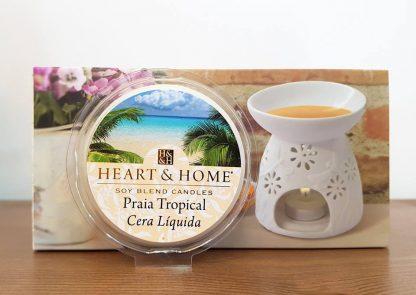 heart and home copo para vela soja cera líquida