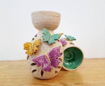 queimador de óleo artesanato flores
