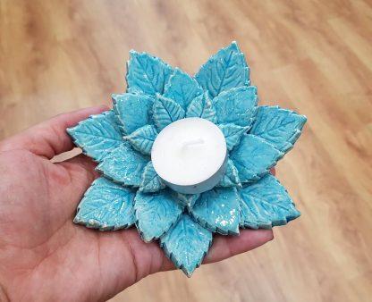 queimador de óleo artesanato flores incensiário vela