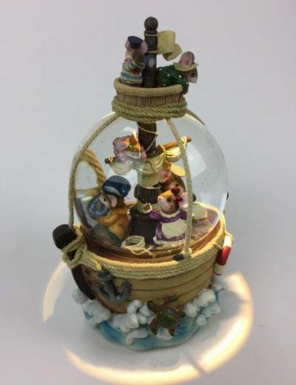 globo musical de neve snowglobe ratos piratas