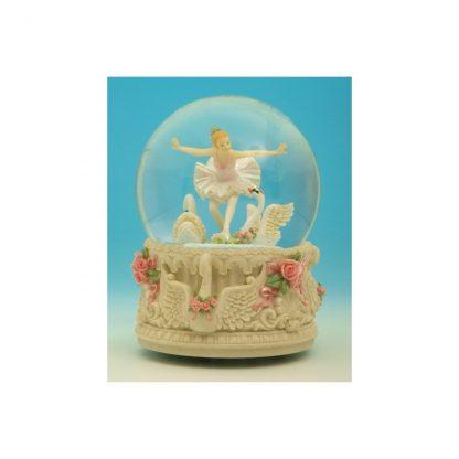 globo lago dos cisnes swan lake 25209 music box caixa de música