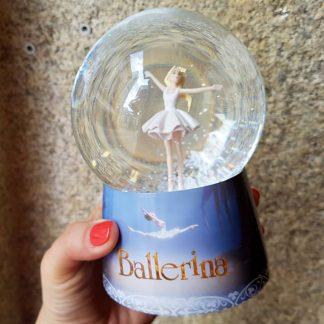 caixa de música caixa de bailarina globo de neve minnie ballerina