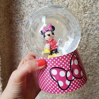 caixa de música caixa de bailarina globo de neve minnie