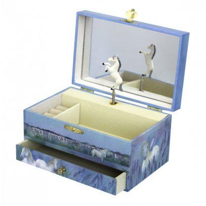 s60621 caixa de música cavalo caixa de bailarina trousselier
