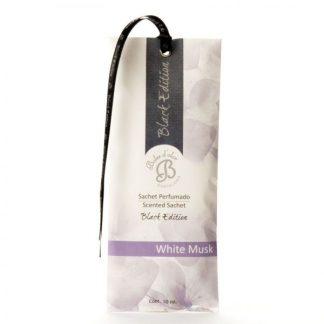 white musk sachet saqueta roupeiro boles d'olor