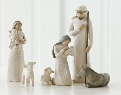 susan lordi figura estátua família anjo peça decoraçao casa significado amizade amor felicidade willow tree desejo aniversário presente presépio 6 peças