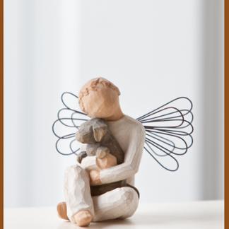 susan lordi figura estátua família anjo peça decoraçao casa significado amizade amor felicidade willow tree desejo aniversário presente reconforto