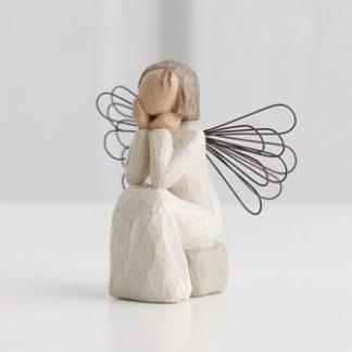 susan lordi figura estátua família anjo peça decoraçao casa significado amizade amor felicidade willow tree desejo aniversário presente atenção