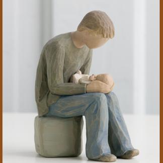 novo pai figura estátua família anjo peça decoraçao casa significado amizade amor felicidade willow tree desejo aniversário presente pai