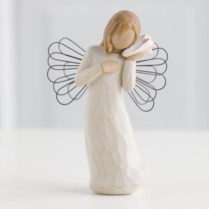 susan lordi figura estátua família anjo peça decoraçao casa significado amizade amor felicidade willow tree desejo aniversário presente lembro de ti