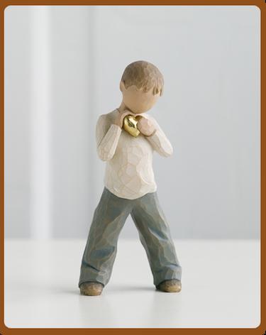 susan lordi figura estátua família anjo peça decoraçao casa significado amizade amor felicidade willow tree desejo aniversário presente coração d'ouro