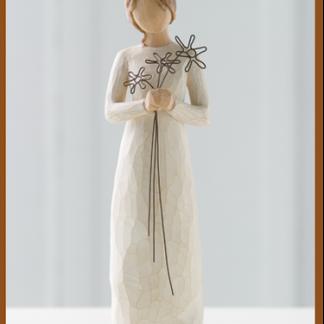 susan lordi figura estátua família anjo peça decoraçao casa significado amizade amor felicidade willow tree desejo aniversário presente gratidão agradecimento